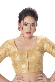Picture of Quirky gold designer wedding blouse