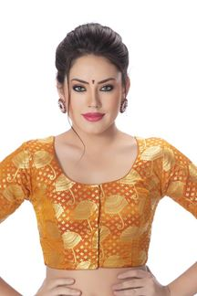Picture of Flattering mustard designer blouse