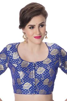 Picture of Transformational blue designer blouse
