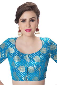 Picture of Delightful sky blue designer blouse
