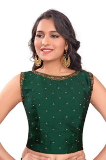 Picture of Gripping dark green designer blouse