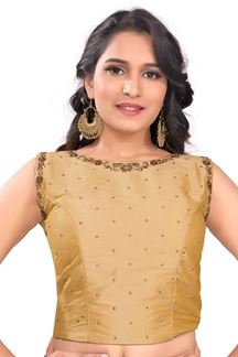 Picture of Mesmerizing gold designer fancy blouse