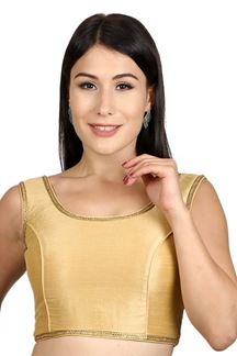 Picture of Transitional gold designer plain blouse