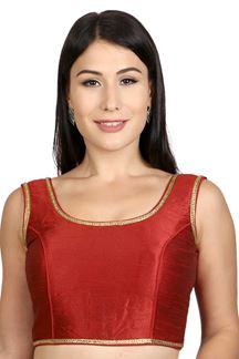Picture of Defining maroon designer plain blouse