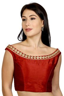 Picture of Heavenly maroon designer plain blouse