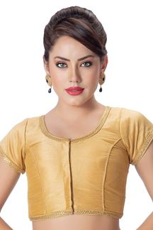 Picture of Tasteful gold designer plain blouse