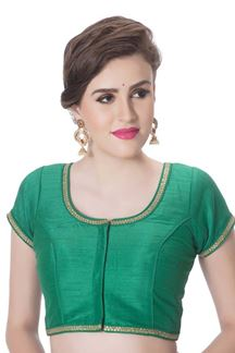 Picture of Beautiful green designer kundan blouse