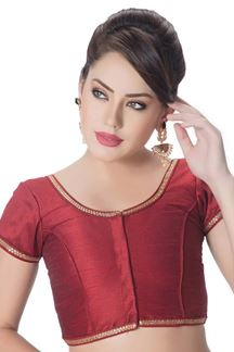 Picture of Novel maroon designer fancy blouse