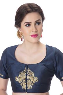 Picture of Outstanding blue designer art silk blouse