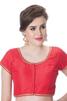 Picture of Fabulous red designer plain blouse