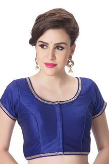 Picture of Tempting royal blue designer blouse