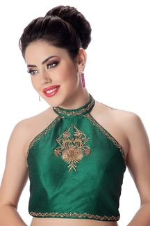 Picture of Luxurious green designer party blouse