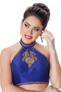 Picture of Lavish royal blue designer party blouse