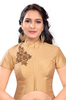 Picture of Soulful gold designer patterned blouse