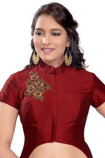 Picture of Simplistic maroon designer party blouse