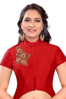 Picture of Striking red designer long blouse