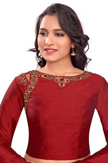 Picture of Relishing maroon designer plain blouse