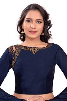 Picture of Ethereal blue designer blouse with stones
