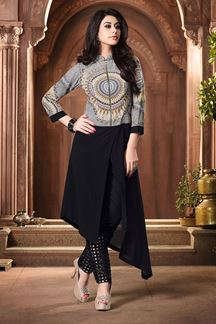 Picture of Urbane multi & black printed kurti