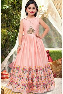 Picture of Refreshing pastel pink designer gown