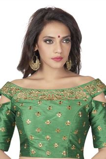 Picture of Transformational green designer blouse