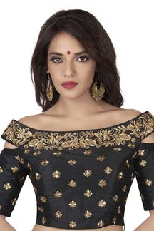 Picture of Luxurious black designer fancy blouse