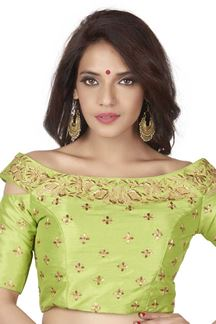 Picture of Classy light green designer fancy blouse