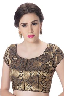 Picture of Stunning black brocade designer blouse