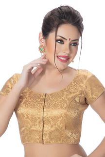 Picture of Classic gold designer brocade blouse