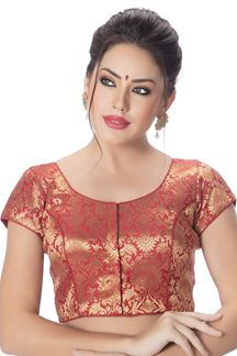 Picture of Transformational red designer blouse