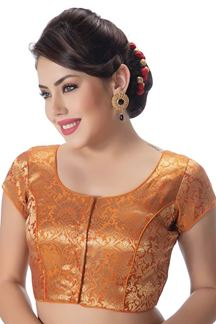 Picture of Quintessential orange designer blouse