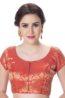 Picture of Gripping red designer blouse with zari