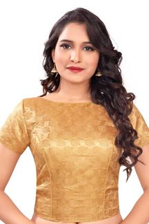 Picture of Appealing self done gold designer blouse