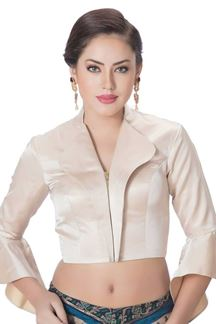 Picture of Pristine ivory designer coat style blouse