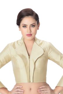 Picture of Glorious cream designer blouse with zip