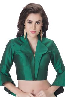 Picture of Stunning glossy green designer blouse