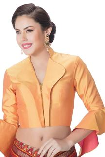 Picture of Peculiar light orange designer blouse