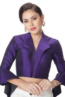 Picture of Glossy purple designer plain blouse