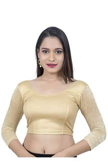 Picture of Exclusive white gold designer blouse