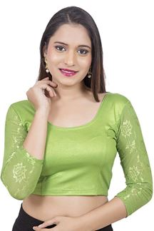 Picture of Quirky green designer shimmery blouse