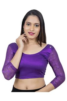 Picture of Classy purple designer party blouse