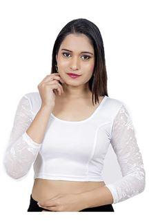 Picture of Classic white designer plain blouse