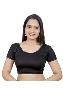 Picture of Casual black designer lycra blouse