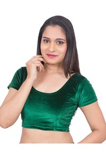 Picture of Attractive green designer velvet blouse