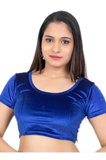 Picture of Classy royal blue designer plain blouse