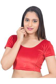 Picture of Auspicious red designer velvet blouse