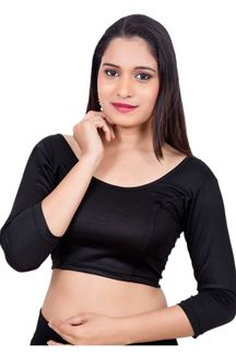 Picture of Dauntless black designer plain blouse