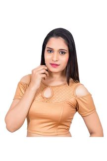 Picture of Fetching pale orange designer blouse