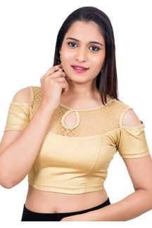 Picture of Sassy gold designer fancy style blouse