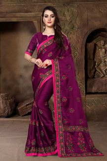 Picture of Astounding magenta designer saree